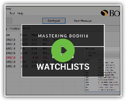 Mastering Bodhi6 Part 3: Creating Watchlists